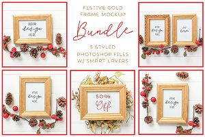 Gold Frame Mockup 50% OFF BUNDLE