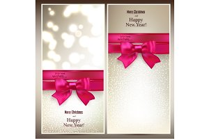 Merry Christmas & NY card templates