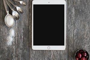 iPad Recipe Mockup