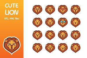 Cute Lion Emoticon