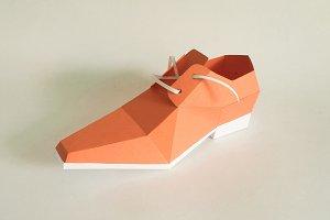 DIY Square Toe Shoe - 3d papercraft