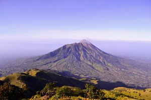 top of merbabu mountain