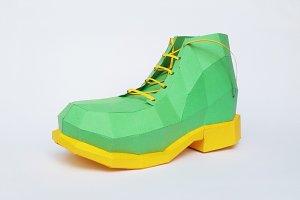 DIY Boot/Shoe Model - 3d papercraft