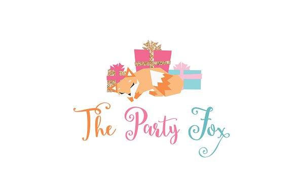 Sleepy Fox Logo Template