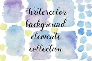 29 Watercolor textures and elements