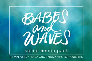 Babes & Waves Social Media Pack