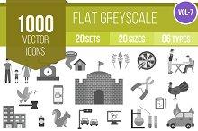 1000 Greyscale Icons
