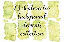 13 Watercolor green textures
