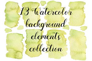 13 Watercolor green textures