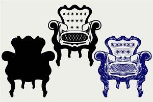 Classic armchair vintage SVG