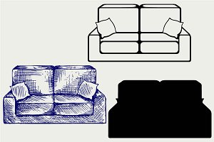 Sofa furniture SVG