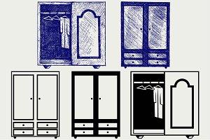 Wardrobe and cupboard SVG