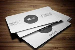 Simple Textured Business Card 2