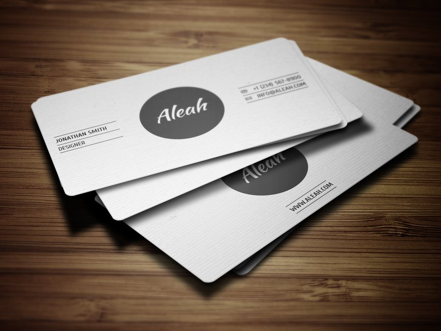 Simple Textured Business Card 2 ~ Business Card Templates ~ Creative ...