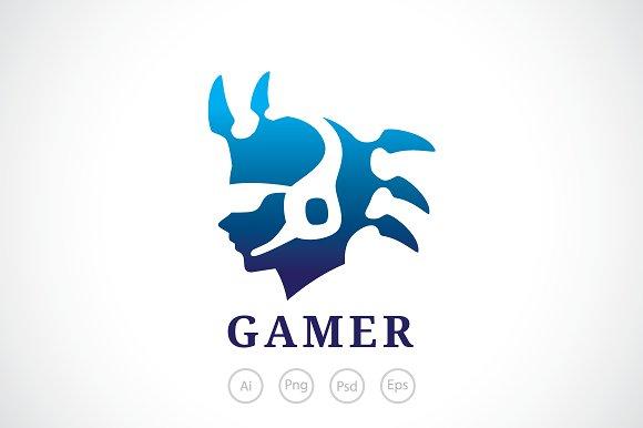 Hardcore Alien Gamer Logo Template