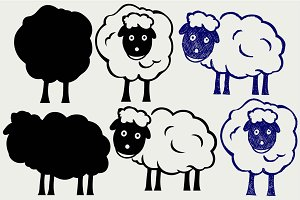 Cartoon sheep SVG