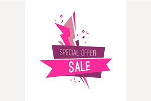 Flashed special sale banner.