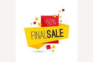 Advertising final sale banner