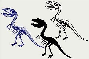 Tyrannosaurus skeleton SVG