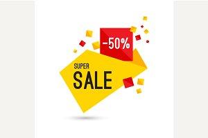 Advertising super sale banner