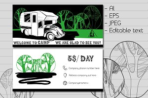 Invitation, business card of Camper