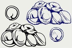 Pelmeni with meat SVG