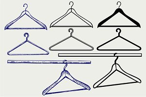 Clothes hangers SVG