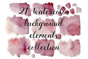 21 Watercolor maroon textures