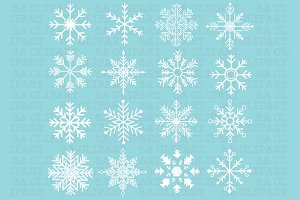 Snowflakes Silhouette ClipArt