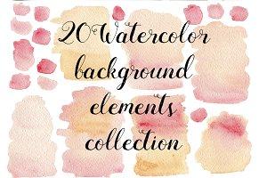 20 Watercolor pink textures