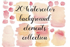 20 Watercolor pink textures