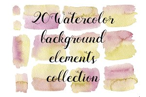 13 Watercolor pink-green textures