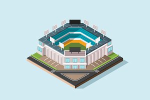 Isometric Illustration - Stadium