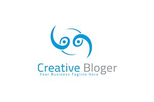 Creative Bloger Logo Template