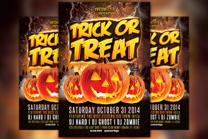 Trick or Treat Halloween Party Flyer