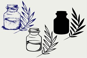 Fragrance oil SVG