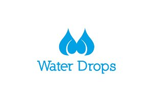 Water Drops Logo Template