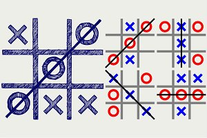 Noughts and crosses SVG