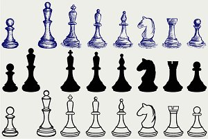 Chess figures SVG