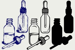 Medicine bottle with dropper SVG