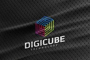 Digi Cube Logo Template