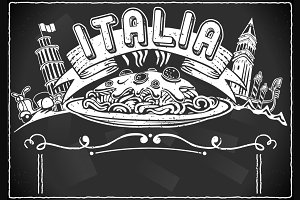 Graphic Element for Italian Menu
