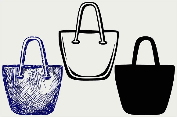 Several Handbags SVG DXF