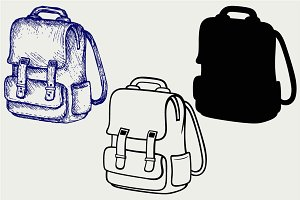School backpack SVG
