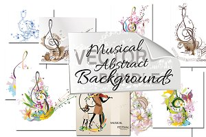 Musical abstract backgrounds.
