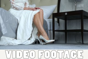Beautiful legs of the bride