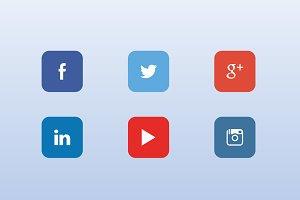 6 vector social icons
