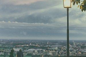 Evening in the Italian city