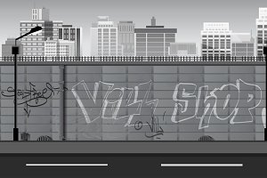 Game Background in Black and White