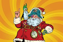 Santa Claus pirate pointing gesture